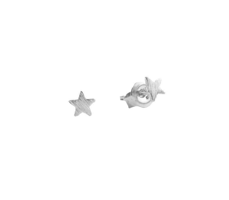 Petite Sterling Silver Oorbellen Ster
