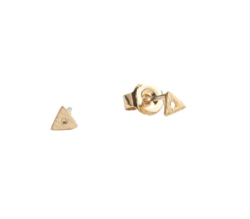 Oorbellen Open Driehoek goud