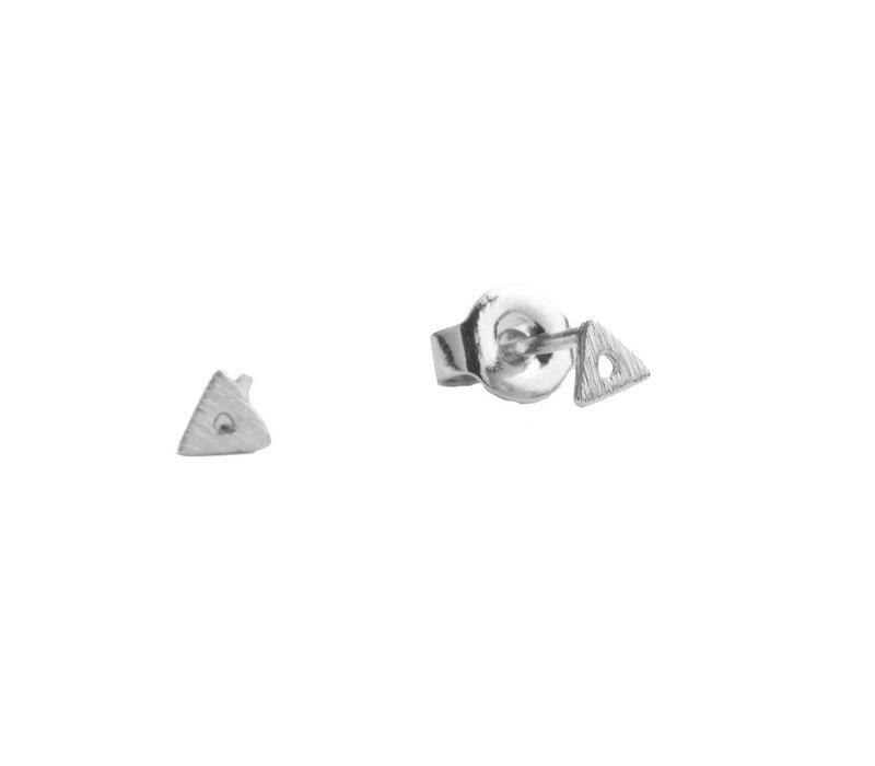 Petite Sterling Silver Oorbellen Open Driehoek