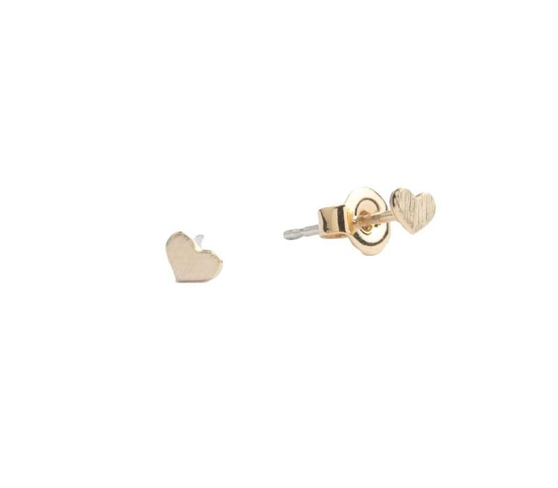 Earrings Heart plated
