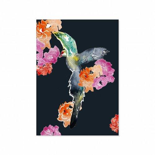 Dubble postcard Paradise Bird