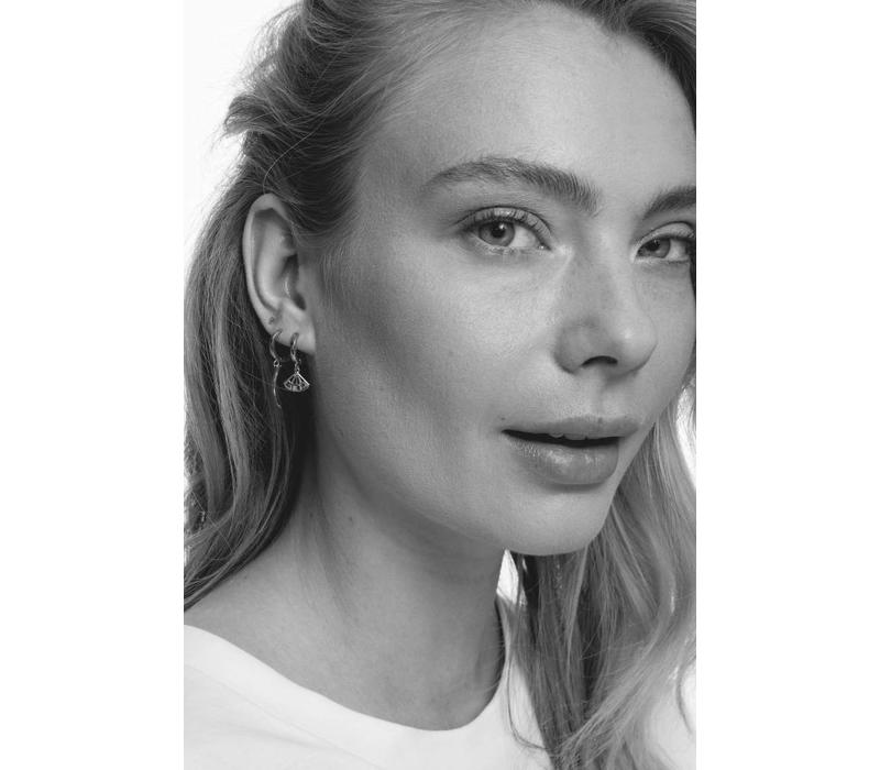 Earrings Triangle silver