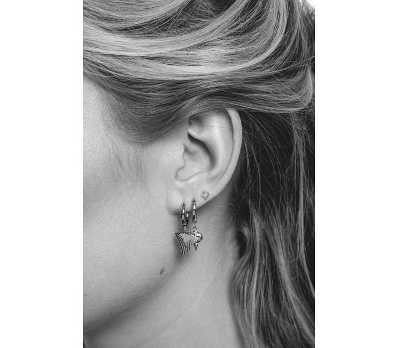 Petite Sterling Silver Earrings Square
