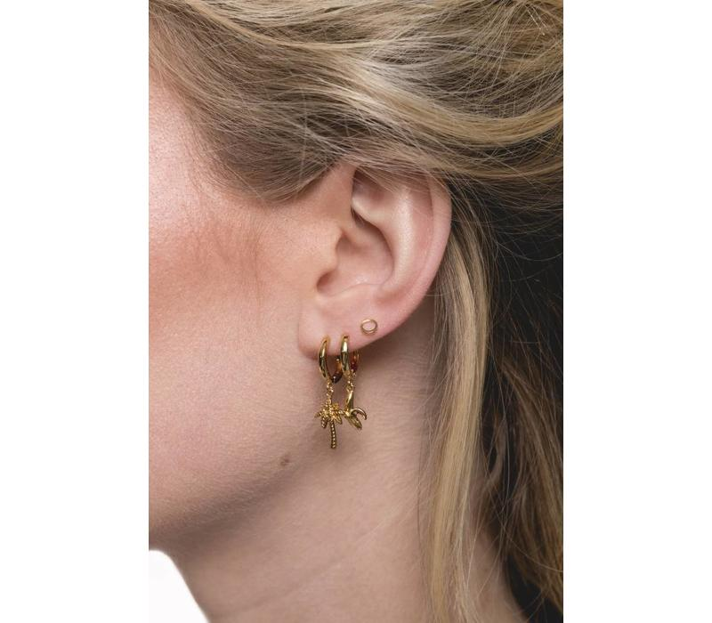 Petite Goldplated Sterling Silver Earrings Circle