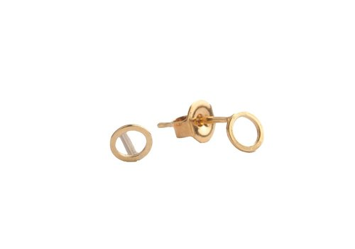 All the Luck in the World Oorbellen Cirkel goud