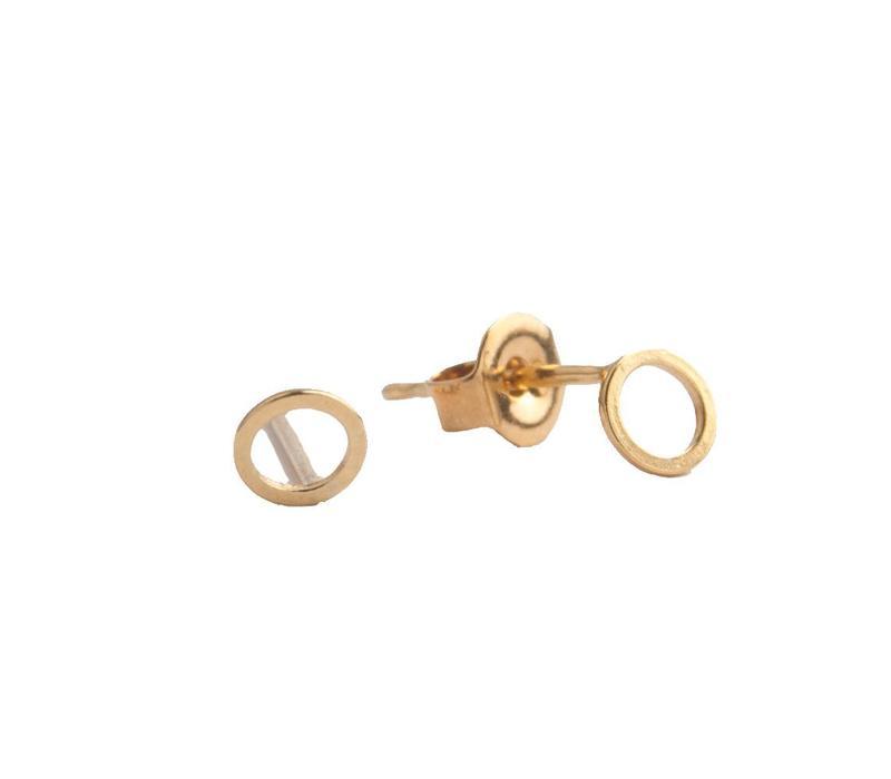 Petite Goldplated Sterling Silver Oorbellen Cirkel
