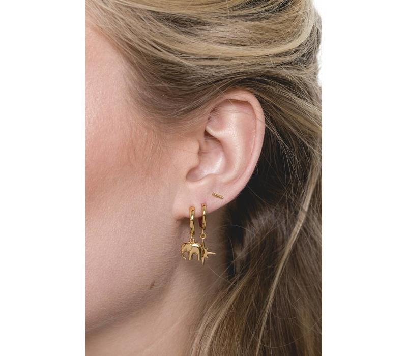 Earrings Twisted Strip gold