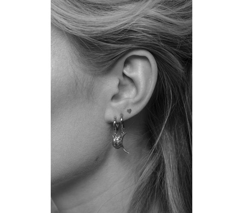 Petite Sterling Silver Earrings Heart