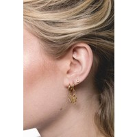 Petite Goldplated Sterling Silver Earrings Circle