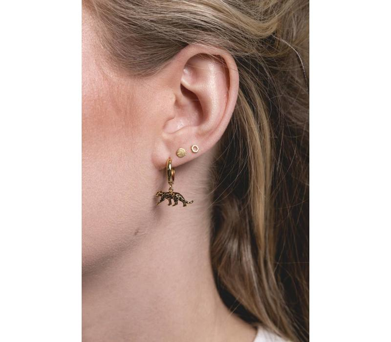 Earrings Coin plated
