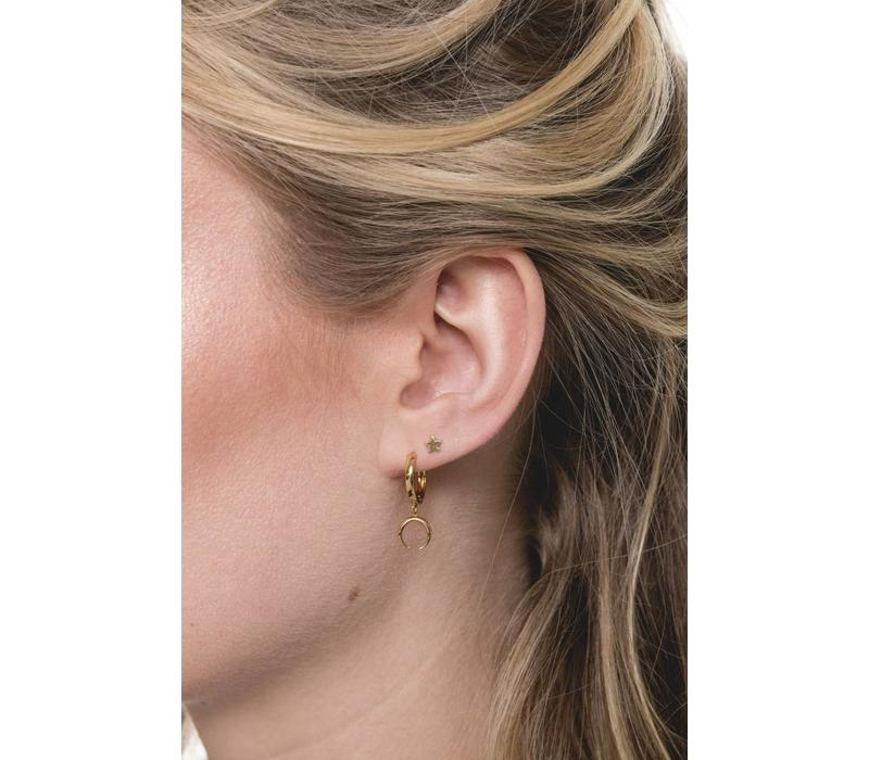 Petite Goldplated Sterling Silver Earrings Star