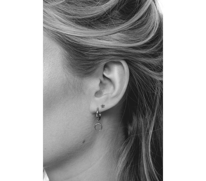 Petite Sterling Silver Earrings Star