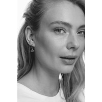 Petite Sterling Silver Earrings Open triangle