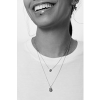 Character Silverplated Ketting letter V