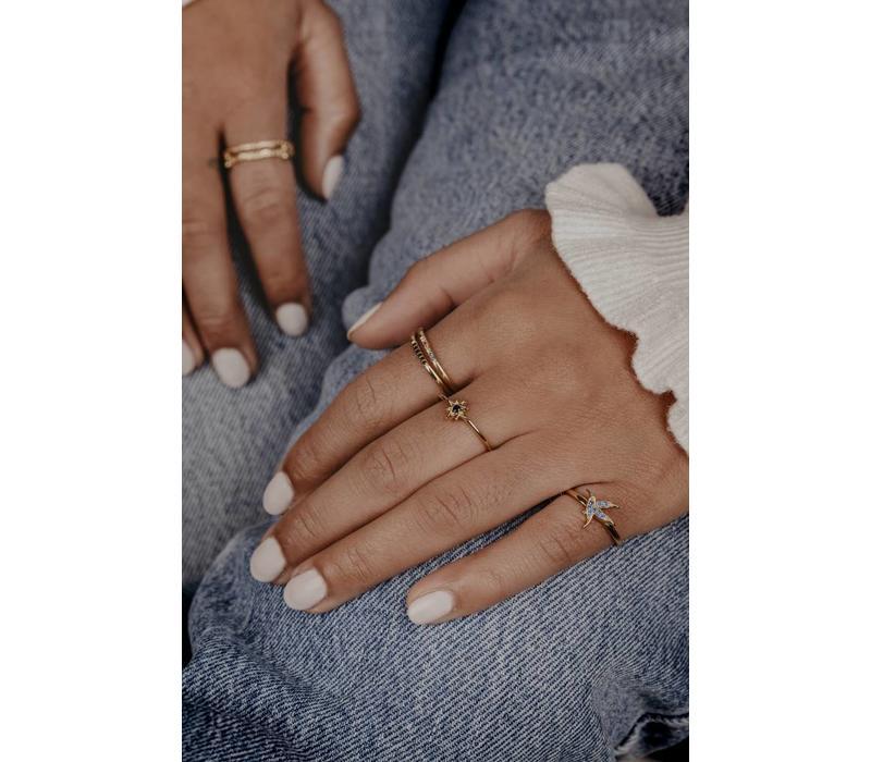 Bliss Goldplated Ring Hummingbird