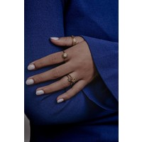 Bliss Goldplated Ring Slang Groene Ogen