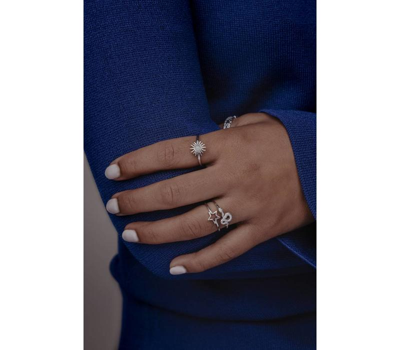 Ring Open Star plated