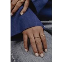 Bliss Goldplated Ring Ster Zwart