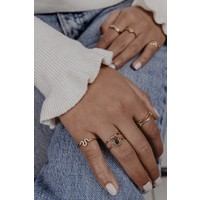 Ring Ray of Sunshine Zwart 18K goud
