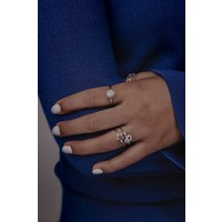 Bliss Silverplated Ring Sun Light Pink