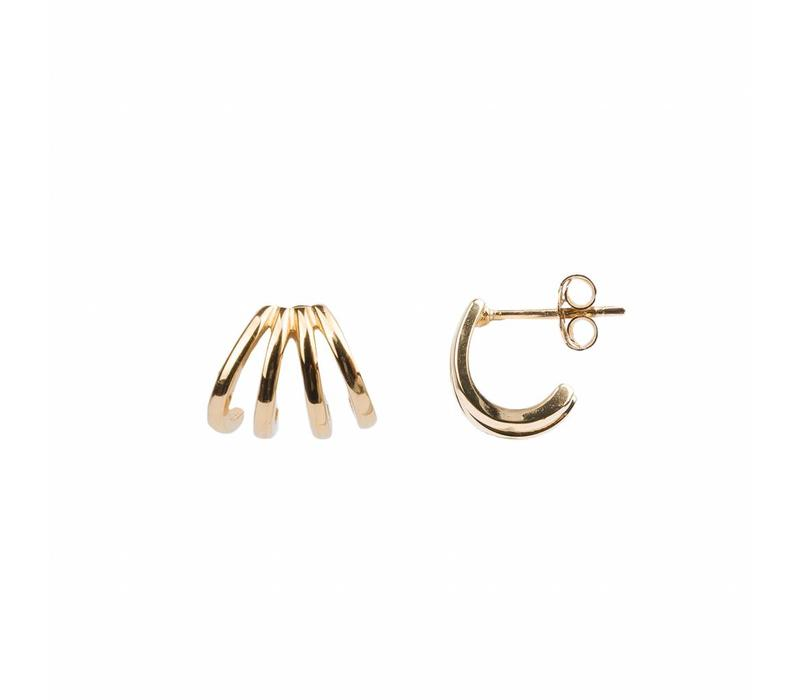 Earring 4 Split 18K gold