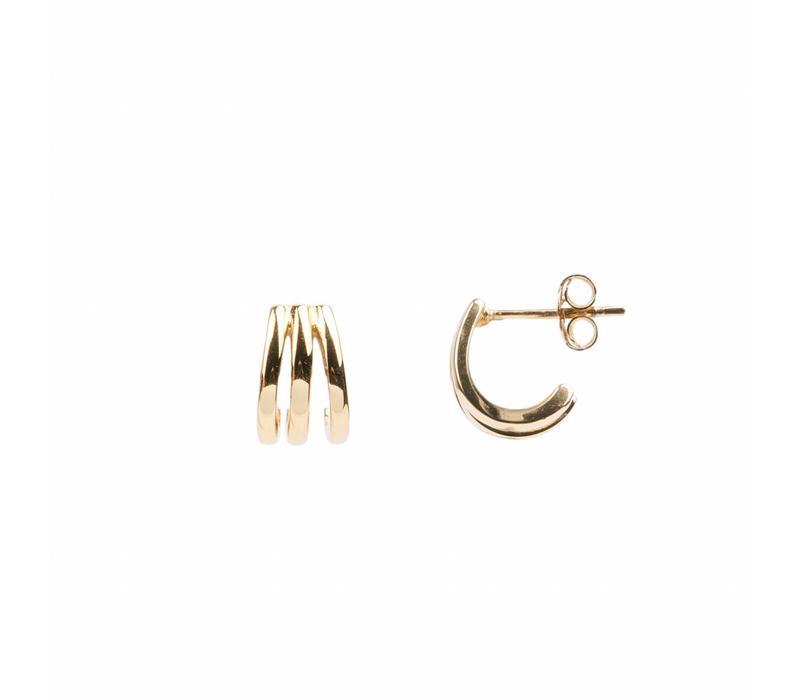 Bliss Goldplated Earring 3 Split