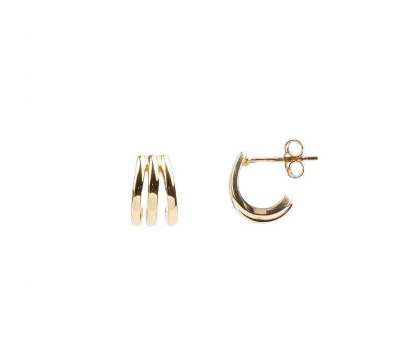 Earring 3 Split 18K gold