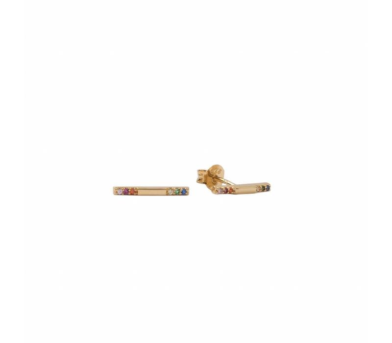 Bliss Goldplated Earring Bar Multi