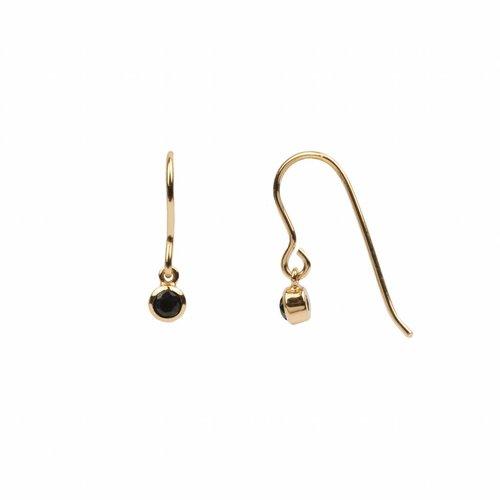 Oorbel Hook Black Onyx 18K goud