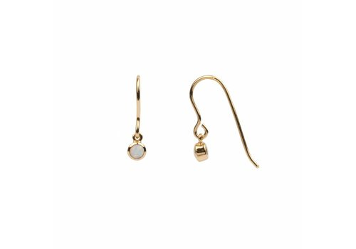 All the Luck in the World Earring Hook White 18K gold