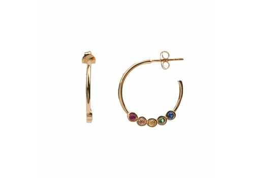All the Luck in the World Earring Creole big Multi 18K gold