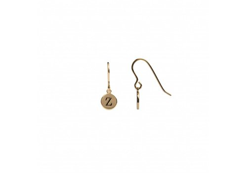 All the luck in the world Earring letter Z gold