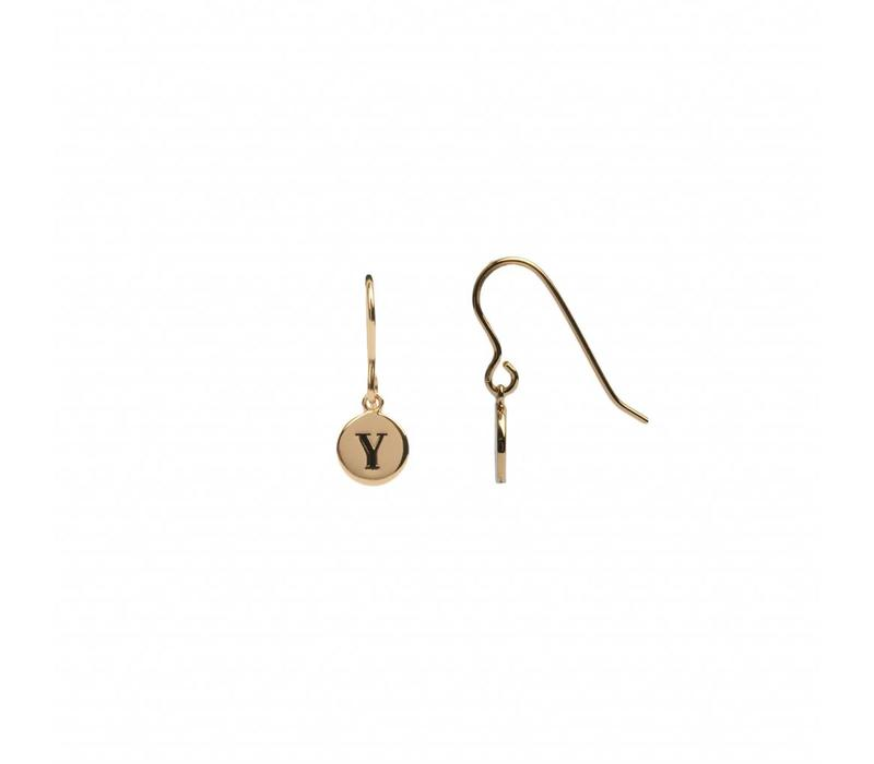 Character Goldplated Earring letter Y