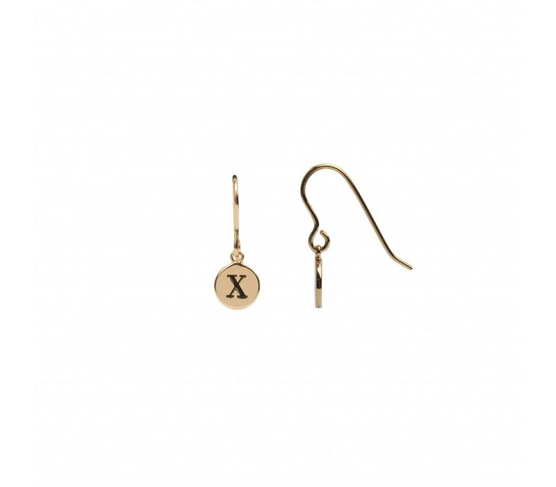 Character Goldplated Earring letter X