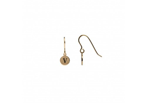 All the luck in the world Earring letter V gold