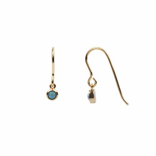 Oorbel Hook Blauw 18K goud