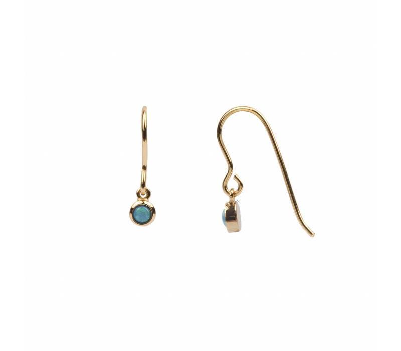 Bliss Goldplated Oorbel Hook Blauw