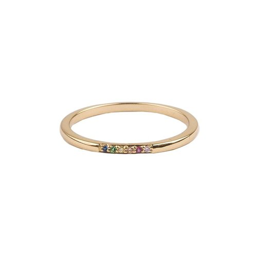 Bliss Goldplated Ring Tiny Dots Multi