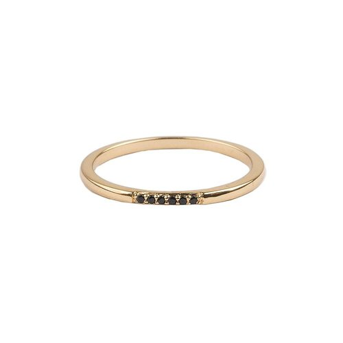 Ring Tiny Treasure Zwart 18K goud