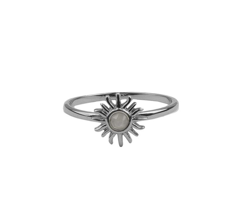 Bliss Silverplated Ring Zon Licht Roze