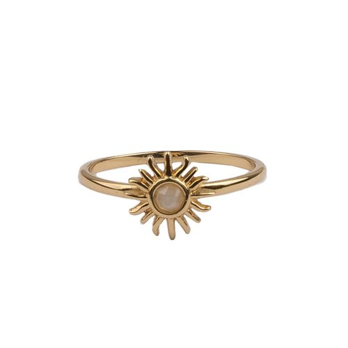 Bliss Goldplated Ring Sun Light Pink