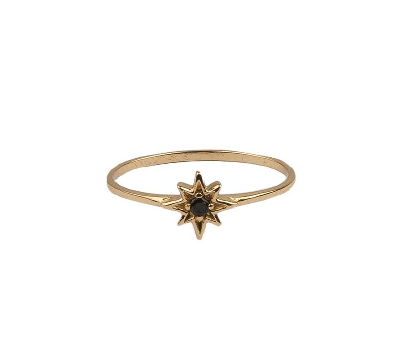 Ring Star Black plated