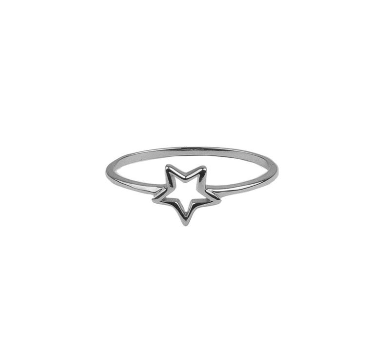 Ring Open Star silver