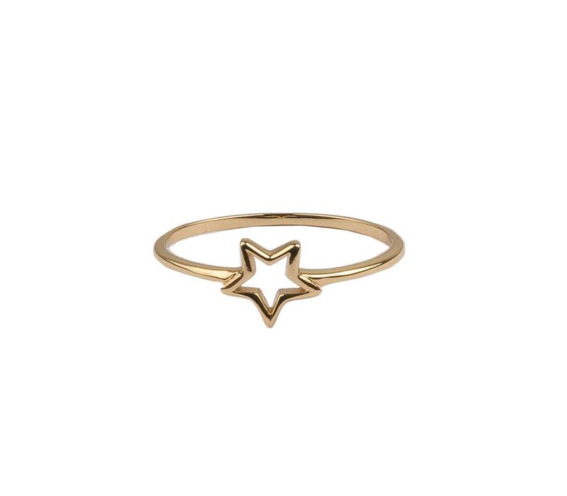 Ring Open Star 18K gold