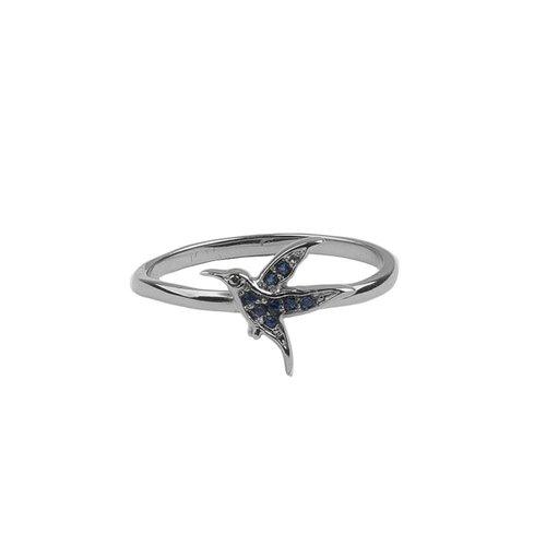 Ring My Little Hummingbird zilver