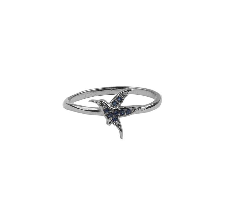 Ring Hummingbird silver
