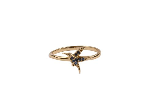 All the Luck in the World Bliss Goldplated Ring Hummingbird