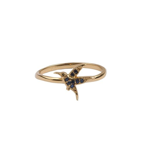Bliss Goldplated Ring Hummingbird
