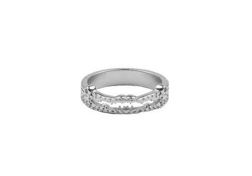 All the Luck in the World Bliss Silverplated Ring Croco
