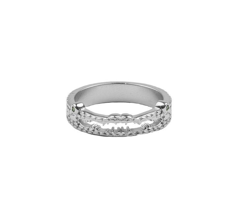 Ring Croco silver